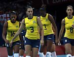 As jogadoras do Brasil saem da quadra aps perder partida para a Coria do Sul Veja o especial dos Jogos Olmpicos  