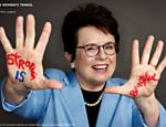 A ex-tenista Billie Jean King