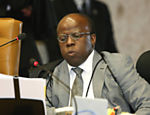 Ministro Joaquim Barbosa (relator) durante sesso de julgamento do mensalo no Supremo; galeria de fotos rene expresses dos ministros durante a anlise do caso, o maior j enfrentado pela corte