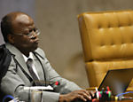 Ministro Joaquim Barbosa durante sesso de julgamento do mensalo no Supremo; galeria de fotos rene expresses dos ministros durante a anlise do caso, o maior j enfrentado pela corte