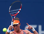 A australiana Samantha Stosur durante jogo contra Victoria Azarenka, em Nova York Leia mais