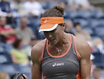 A tenista australiana Samantha Stosur durante confronto contra Victoria Azarenka pelas quartas de final do Grand Slam americano Leia mais