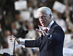 O ex-presidente dos Estados Unidos Bill Clinton discursa durante Conven��o do Partido Democrata nesta quarta-feira (5) em Charlotte, no estado americano da Carolina do Norte