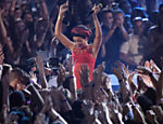 Rihanna, 24, no Video Music Awards da MTV, realizado ontem em Los Angeles Leia mais