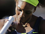 Serena Williams durante a final do Aberto dos EUA, contra a bielorussa Victoria Azarenka