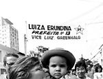 Erundina, durante campanha eleitoral de 1988