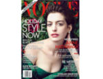 "Anne Hathaway na capa da revista ""Vogue"""