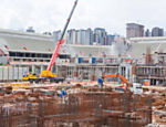 Photo taken in January 2013 shows the construction site of Arena da Baixada in Curitiba, Brazil