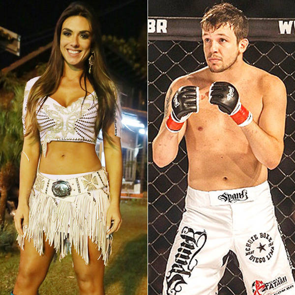 Nicole Bahls e Bruno do KLB