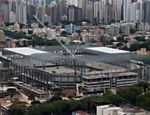 Photo taken on Dec. 14, 2013 shows the exterior view of Arena da Baixada in Curitiba, Brazil