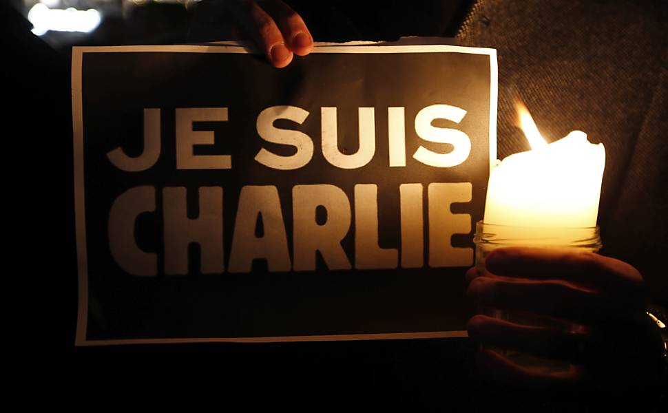 "Homenagens �s v�timas do atentado no ""Charlie Hebdo"""