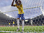 FILE.- In this July 8, 2014 file photo Brazil's Fernandinho reacts after Germany's Toni Kroos during scored his side's third goal during the World Cup semifinal soccer match between Brazil and Germany at the Mineirao Stadium in Belo Horizonte, Brazil. (AP Photo/Natacha Pisarenko) ORG XMIT: XEM102