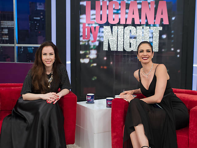 "Luciana Gimenez recebe Sarah Sheeva no ""Luciana By Night"""
