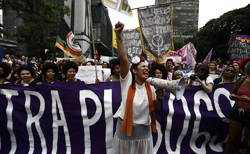 Women Protest Against Cunha in São Paulo and Rio