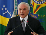 Presidente Michel Temer durante evento no Palácio do Planalto