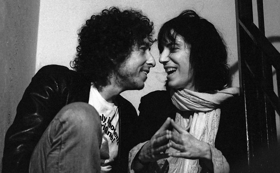 Bob Dylan e Patti Smith em 1975