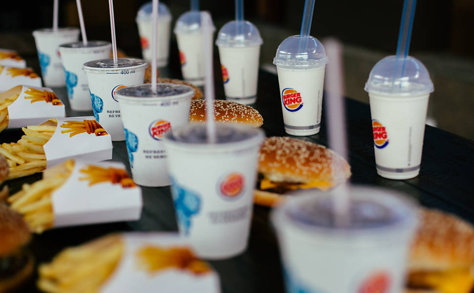 Lanches do Burger King no Brasil