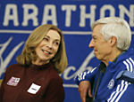 Kathrine Switzer em evento antes da Maratona de Boston