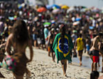 Movimentação na praia de Itaúna, local da disputa da 4ª etapa do mundial de surf WSL