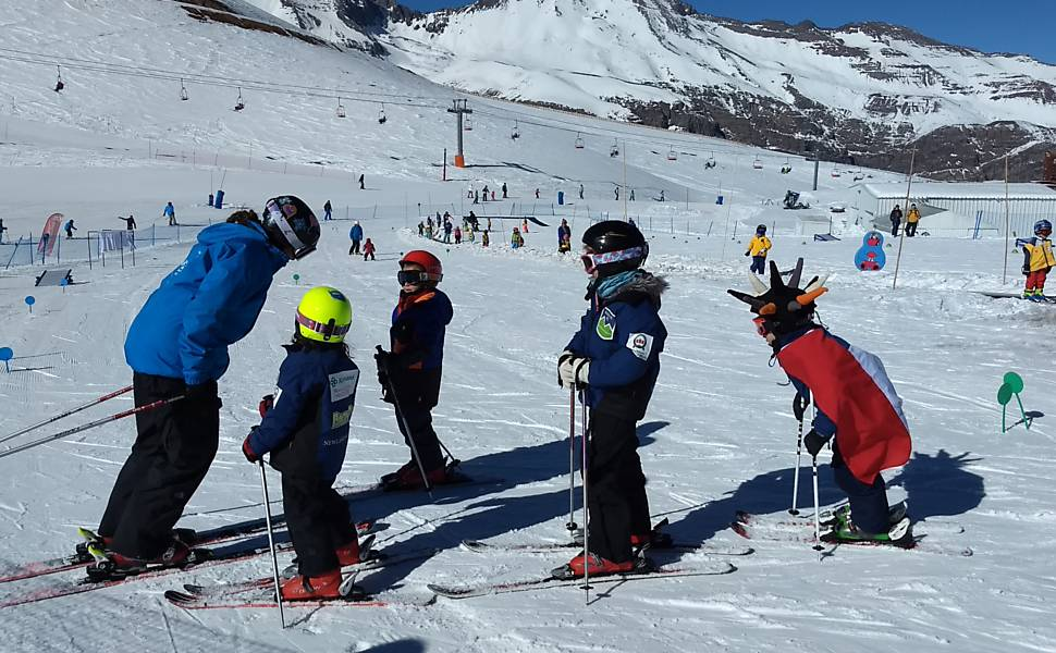 Esta��o de esqui Valle Nevado, no Chile
