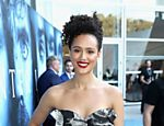 "A atriz Nathalie Emmanuel, que interpreta Missandei em ""Game of Thrones"", participa da estreia de gala no Walt Disney Concert Hall em Los Angeles"
