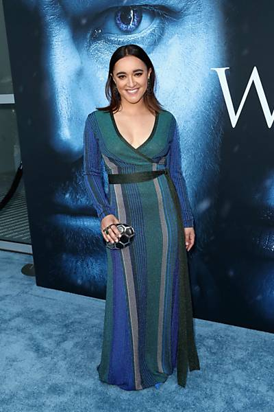 "A atriz Keisha Castle-Hughes, que interpreta Obara Sand em ""Game of Thrones"", participa da estreia de gala no Walt Disney Concert Hall em Los Angeles"