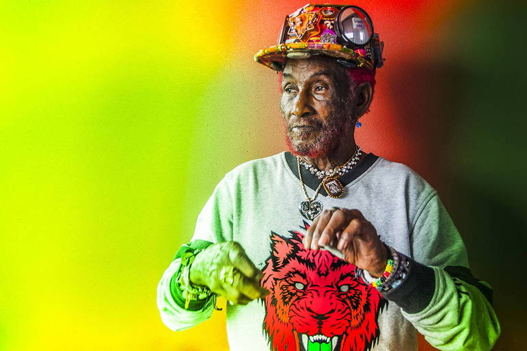 O músico jamaicano Lee 'Scratch' Perry