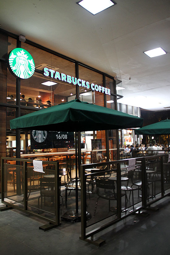 Starbucks opens on Avenida Paulista in Sao Paulo