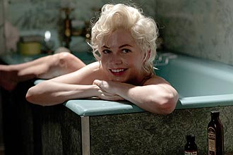 Atriz Michelle Williams (foto) interpreta Marilyn Monroe no filme &quot;Sete Dias com Marilyn&quot;, que estreia em 10 de fevereiro no Brasil