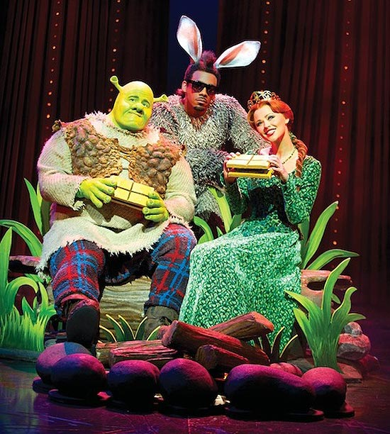 &quot;Shrek, o Musical&quot; (foto), que estreou na Broadway em 2008, mostra a histria do famoso ogro verde