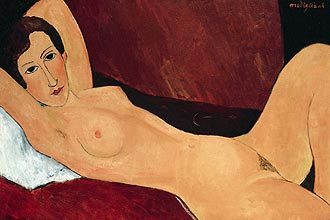 Obra do artista italiano Amedeo Modigliani, que est em exposio no Masp (centro de So Paulo) at 15 de julho
