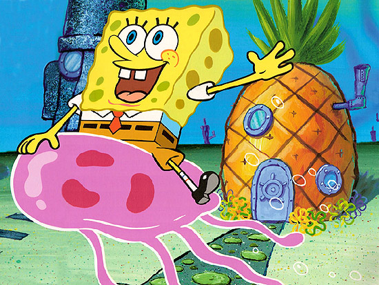 O personagem Bob Esponja