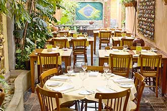 Ambiente do restaurante Tordesilhas, no centro de So Paulo, que teve movimento dobrado na maratona gastronmica 