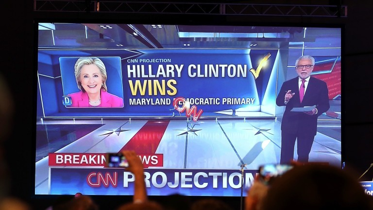 Hillary Clinton Holds Pennsylvania Primary Night Event In Philadelphia