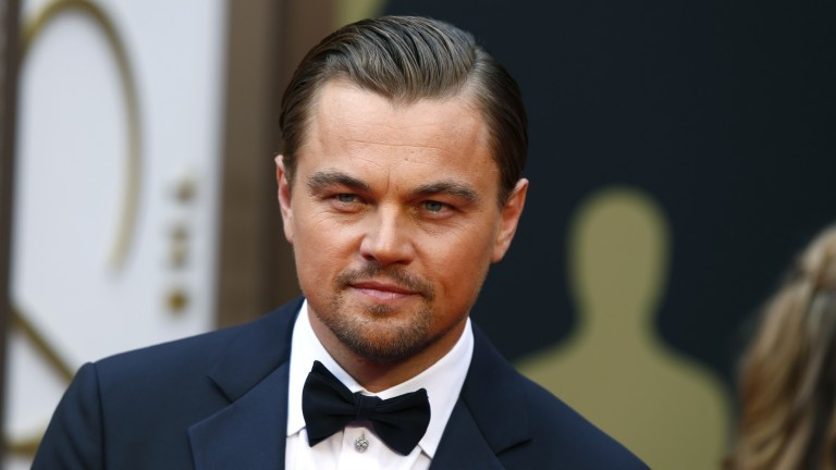 Actor Leonardo DiCaprio arrives at the 86th Academy Awards in Hollywood
