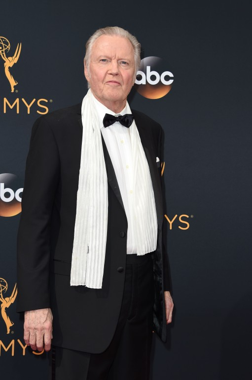 Actor Jon Voight arrives for the 68th Emmy Awards on September 18, 2016 at the Microsoft Theatre in Los Angeles.  / AFP PHOTO / Robyn Beck
