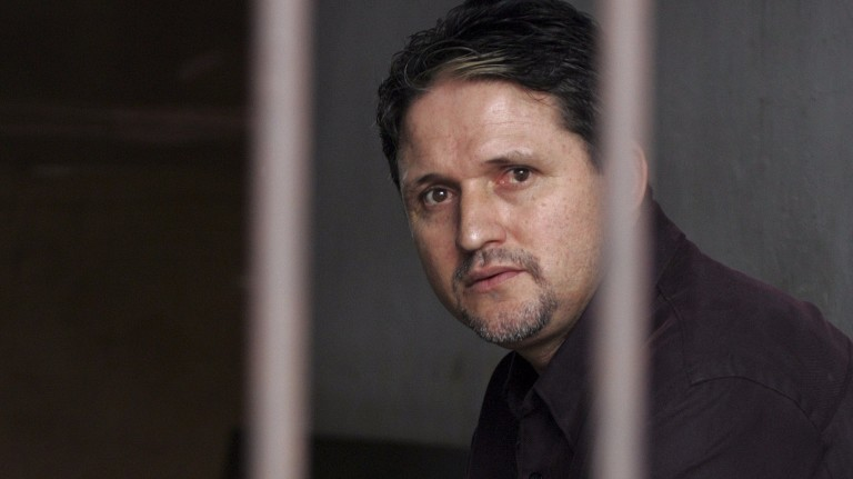 Brazilian Marco Archer Cardoso Moreira sits in a holding cell on drug charges at Tangerang court, near Jakarta, in this June 8, 2004 file photo. Brazil and the Netherlands recalled their ambassadors i