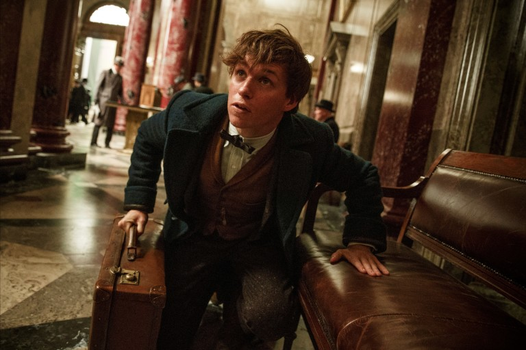 """This image released by Warner Bros. Entertainment shows Eddie Redmayne in a scene from, """"Fantastic Beasts and Where to Find Them."""" (Jaap Buitendijk/Warner Bros. via AP) ORG XMIT: NYET491"""