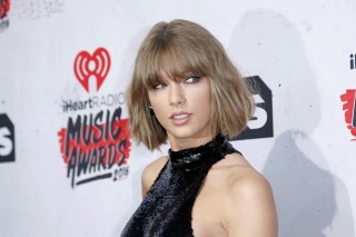 File photo of Singer Taylor Swift posing at the 2016 iHeartRadio Music Awards in Inglewood, California