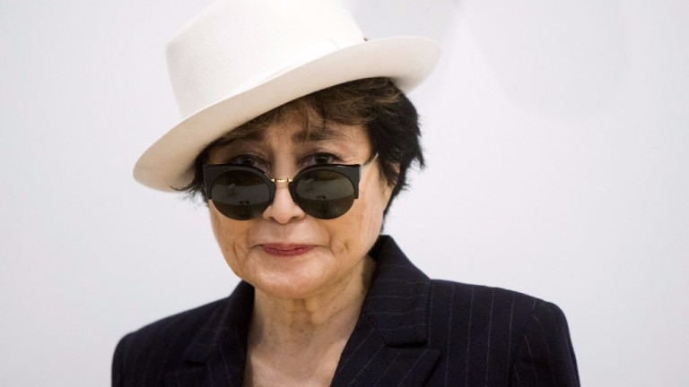 "Legenda: Artist Yoko Ono stands in the exhibit ""Half-A-Room"" at the Museum of Modern Art exhibition dedicated exclusively to her work, titled ""Yoko Ono: One Woman Show, 1960-1971"" in New York in this"