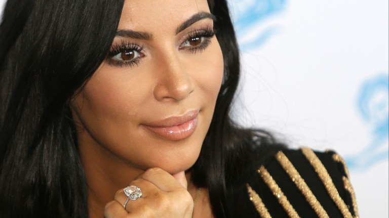 FILE - In this June 24, 2015 file photo, American TV personality Kim Kardashian attends the Cannes Lions 2015, International Advertising Festival in Cannes, southern France. Paris police Monday Jan.9,