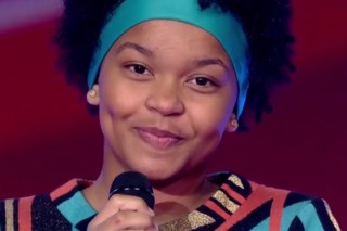 "Franciele Fernanda, 14, durante participação no ""The Voice Kids"" (Globo)"