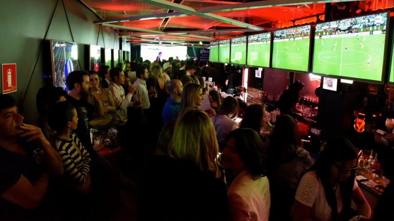 Ambiente do Soul Sports Bar, na Vila Nova Conceição *** ****