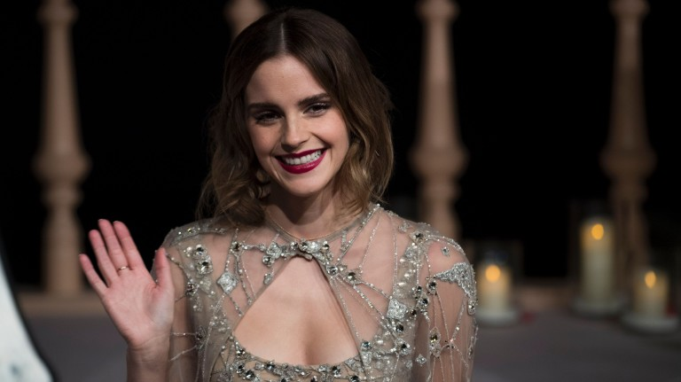 Actress Emma Watson arrives for the Asian premiere of the Disney Movie The Beauty and The Beast in Shanghai on February 27, 2017. / AFP PHOTO / Johannes EISELE ORG XMIT: EIS25