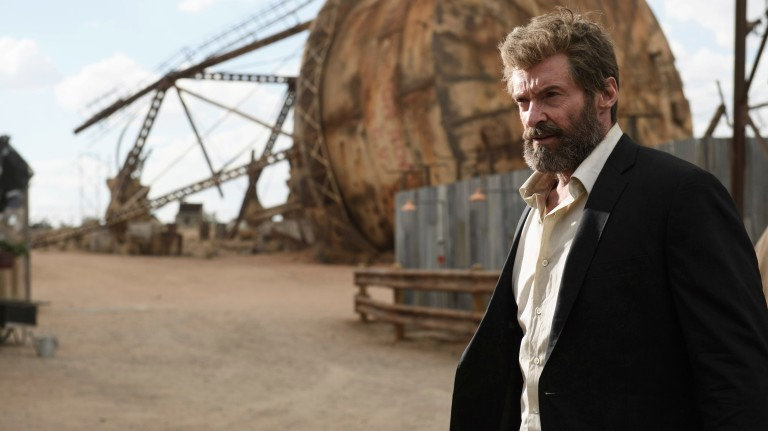 "This image released by Twentieth Century Fox shows Hugh Jackman in a scene from ""Logan."" (Ben Rothstein/Twentieth Century Fox via AP) ORG XMIT: NYET616"