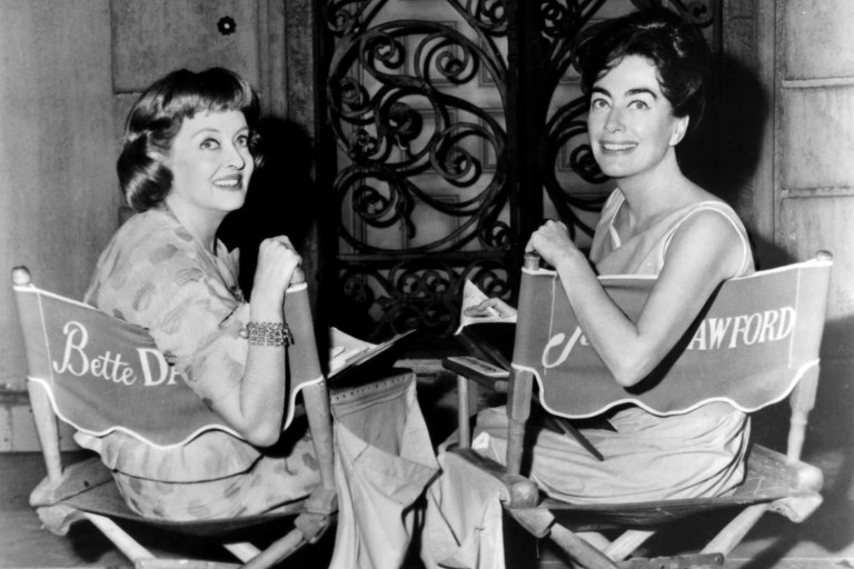 As atrizes Bette Davis  e Joan Crawford
