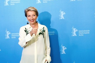 FILE PHOTO: Actress Emma Thompson poses during a photocall to promote the movie 'Alone in Berlin' at the 66th Berlinale International Film Festival in Berlin, Germany, February 15, 2016. REUTERS/Hannibal HanschkeFile Photo ORG XMIT: HFSINK103