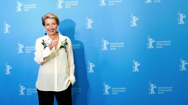FILE PHOTO: Actress Thompson poses during a photocall at the 66th Berlinale International Film Festival in Berlin