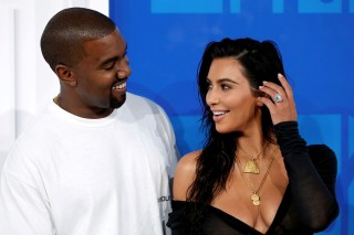 FILE PHOTO - Kim Kardashian and Kanye West arrive at the 2016 MTV Video Music Awards in New York