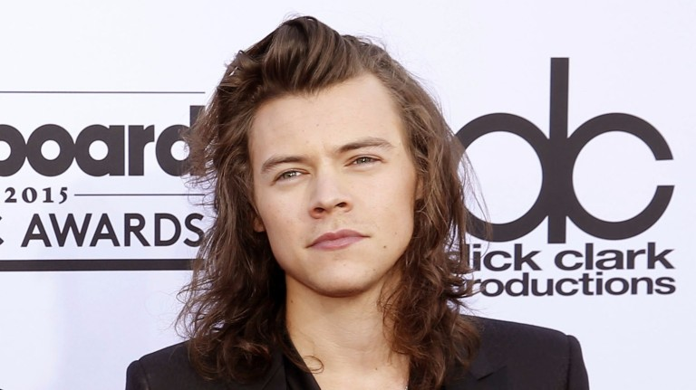 FILE - In this May 17, 2015 file photo, Harry Styles of the musical group One Direction arrives at the Billboard Music Awards in Las Vegas. Styles responded to the Supreme Court's ruling on Friday, Ju
